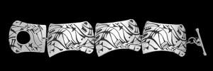 1. ABL7 NARROW LINK BRACELET DISTORTED CUNIEFORM