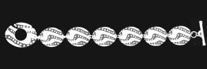 15-215 SKIPPING STONES NARROW LINK BRACELET