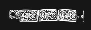 18BTN NARROW LINK BRACELET3 PIECE MIMBRES ANTELOPE