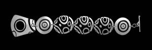 2. CSL-103 NARROW LINK BRACELET CIRCLE DECO