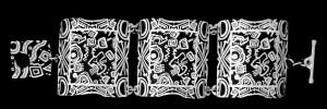 7-325A primordial soup LARGE HINGE BRACELET