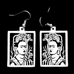 FRIDA KAHLO SELF PORTRAIT SIMPLE EARRINGS
