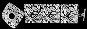 FRL-430 GARDEN GRAFFITTI LARGE LINK BRACELET