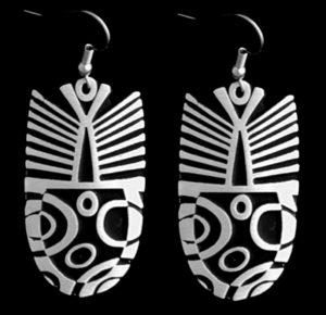 mer5-leaf-mossiac-single-earrings