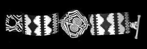 NR-2BN4 PRE-PUEBLOAN POT DESIGN WITH RUG DESIGN NARROWE LINK BRACELET