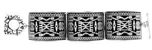 NR505 STORM DESIGN NAVAJO RUG LARGE LINK BRACELET