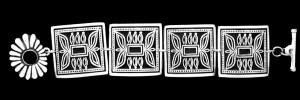 NR999 PHASE ONE NAVAJO CONCHO DESIGN LARGE LINK BRACELET