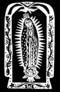 NUESTRA SENORA DE GUADALUPE MEDIUM EASEL (RETABLO)
