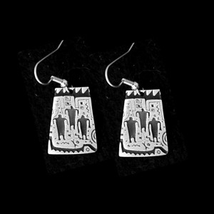 P16 ONES WHO PASSED PETROGLYPH  SIMPLE EARRINGS