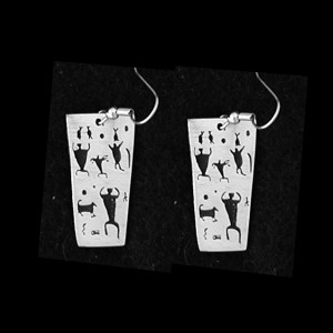 P33 GATHERING OF THE CLAN  PETROGLYPH  SIMPLE EARRINGS