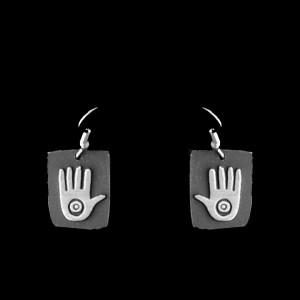 P37-B PETROGLYPH  SIMPLE EARRINGS
