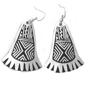 PE-11 MIMBRES DESIGN NEW MEXICO IN A FOOT SINGLE EARRINGS