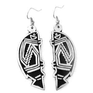PE-119 MIMBRES NEW MEXIO SINGLE EARRINGS