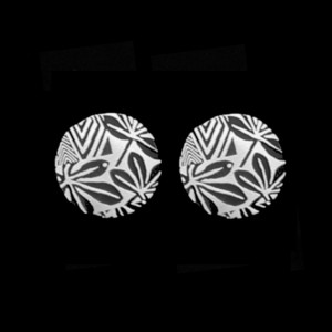 STRE-7 FROND SIMPLE POST EARRINGS